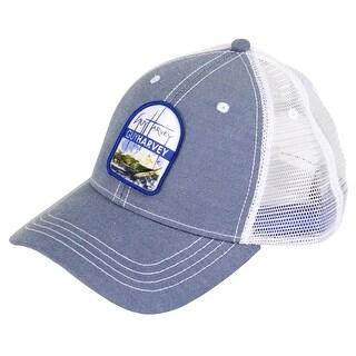 Guy Harvey Unisex-Adult Retronator Trucker Ball Cap One Size Blue