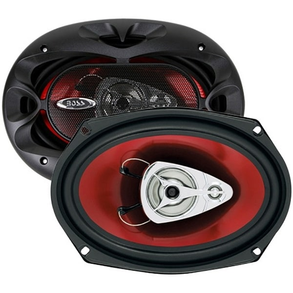 Boss 6x9 Speaker 3-Way red poly injection cone