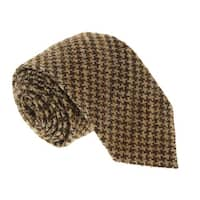 Missoni U5091 Tan/Brown Houndstooth 100% Silk Tie - 60-3