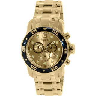 Invicta Men's Pro Diver 80068 Gold Stainless-Steel Swiss Chronograph Dress Watch