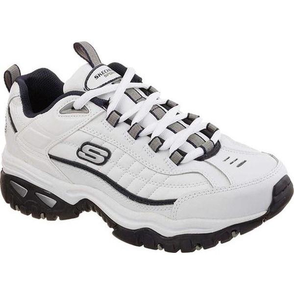 9dd3db05ee9c Shop Skechers Men's Energy After Burn Sneaker White/Navy - On Sale ...