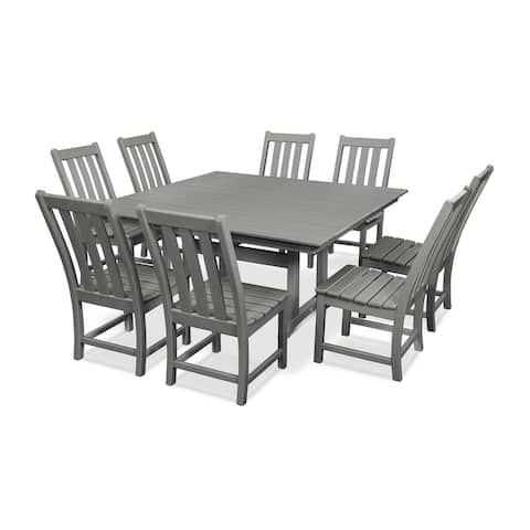 POLYWOOD Vineyard 9-Piece Farmhouse Dining Set