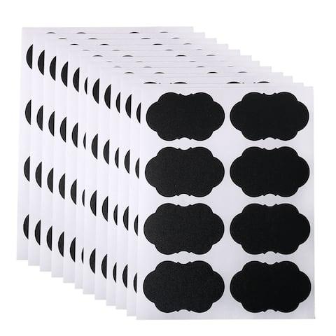 "96pcs Chalkboard Labels Water-resistant Durableboard Storage Stickers - Black - 2.17"" x 1.38""(L*W)"