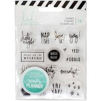 Heidi Swapp Memory Planner Clear Stamps-Weekend