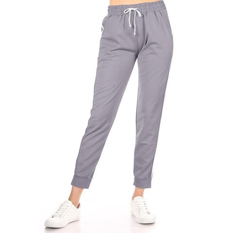 Women's Casual Drawstring Solid Jogger Pants