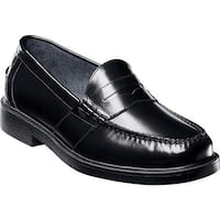 Nunn Bush Men's Lincoln 85538 Penny Loafer Black Polish Leather
