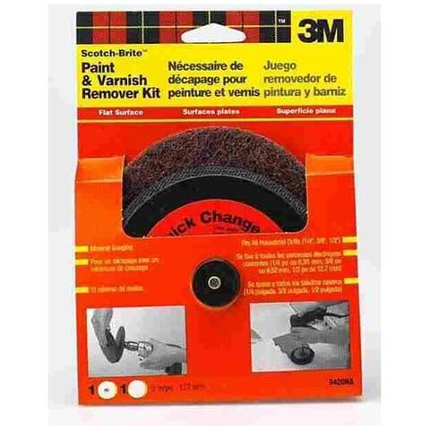 "Scotch-Brite 9420NA Flat Surface Paint & Varnish Remover Kit 5"""