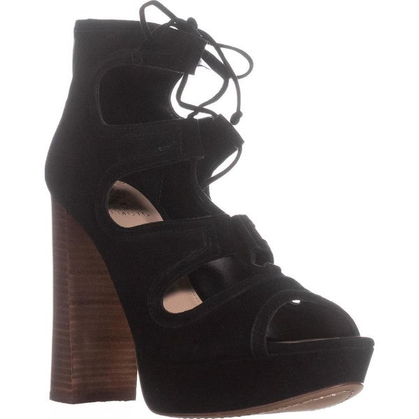 Vince Camuto Kamaye Platform Dress Sandals, Black Suede