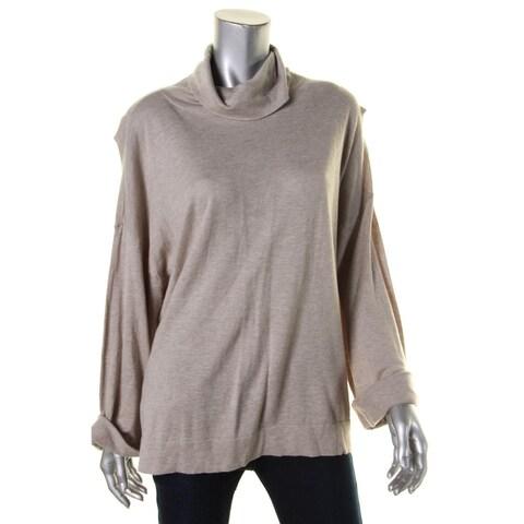 Ralph Lauren Womens Pullover Sweater Cowl Neck Cuffed Sleeves - L