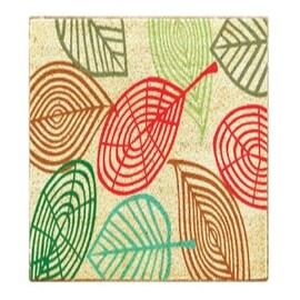 """J & M Home Fashions 4288 Coco Leaves Coir Floor Mat, 18"""" X 30"""""""