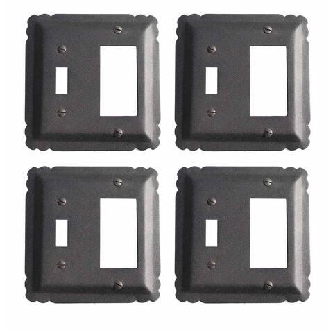 4 Switchplate Black Wrought Iron GFI/Toggle 5 1/4
