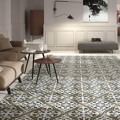 SomerTile 9.75x9.75-inch Concept Carthusian Porcelain Floor and Wall Tile