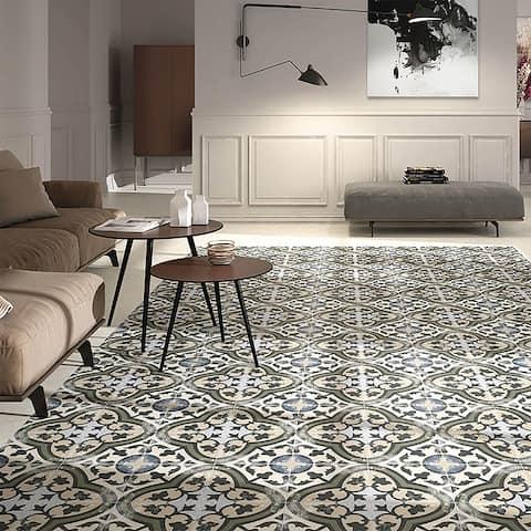 """SomerTile Arte Evoque Carthusian 9.75"""" x 9.75"""" Porcelain Floor and Wall Tile"""