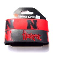 Nebraska Cornhuskers Rubber Wrist Band (Set of 2) NCAA