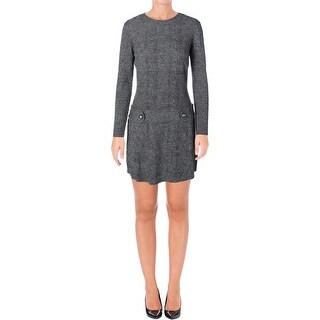 BCX Womens Juniors Sweaterdress Cable Knit Marled - L