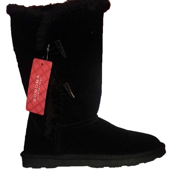 Sonoma Life+Style Belina Women's Genuine Suede Boots - Black