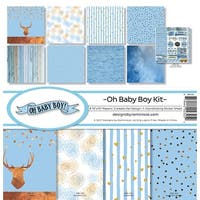 """Reminisce Collection Kit 12""""X12""""-Oh Baby Boy"""