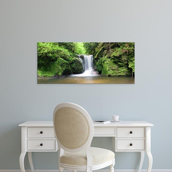 Easy Art Prints Panoramic Images's 'Water in a forest, Geroldsau Waterfall, Black Forest, Baden