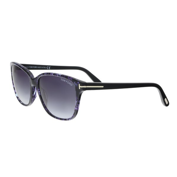 6e9bde5fa88 Shop Tom Ford FT0432 S 55W DANA Violet Square Sunglasses - 59-15-140 ...