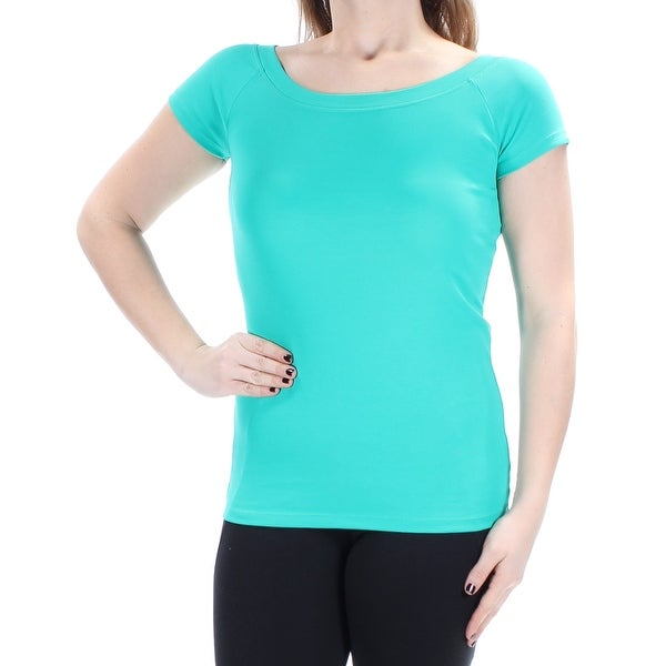 ef125c0e1da7cb Shop Ralph Lauren Womens Teal Fitted Short Sleeve Boat Neck Top Size  M -  Free Shipping On Orders Over  45 - Overstock - 22425251
