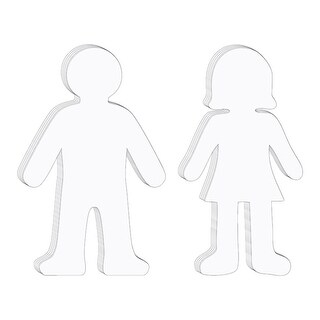 Whiteboard People Shapes 10/Set