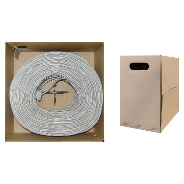 Offex Plenum Cat6 Bulk Cable, Gray, Solid, UTP (Unshielded Twisted Pair), CMP, 23 AWG, Pullbox, 1000 foot
