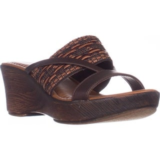 Tuscany Easy Street Rachele Comfort Wedge Sandals, Brown Multi