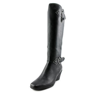 Aerosoles Wonderful Square Toe Synthetic Knee High Boot