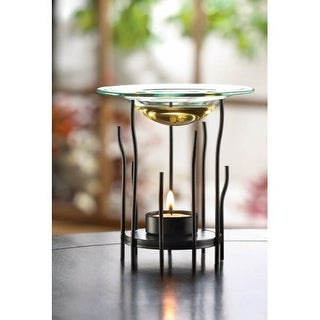 Black Spine Tealight Oil Warmer