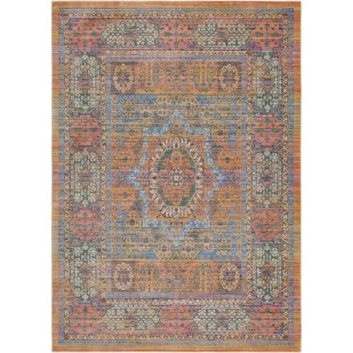 Surya GER2302-211710 Germili 3' x 8' Runner Synthetic Power Loomed Traditional A - Yellow