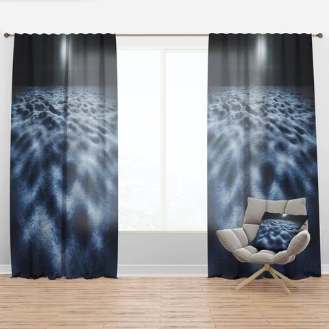 Designart 'Night With Fool Moon in Sky' Landscape Curtain Panel