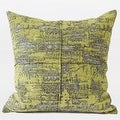 "G Home Collection Luxury Lemon Yellow Mix Color Metallic Chenille Pillow 22""X22"" - Thumbnail 0"