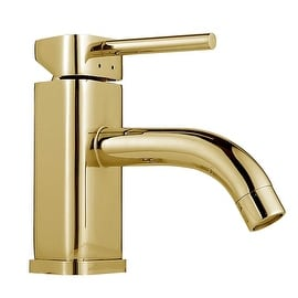 Bathroom Faucet Gold PVD Triangular Single Hole 1 Handle