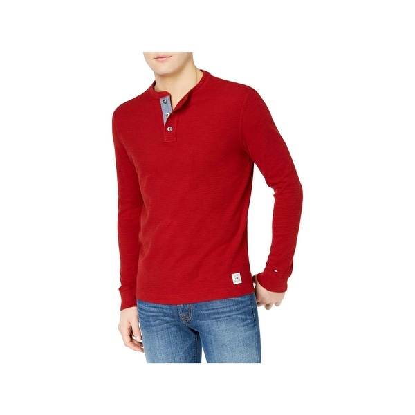 a54c29e0 Shop Tommy Hilfiger Mens Henley Shirt Casual Lightweight - Free Shipping On  Orders Over $45 - Overstock - 23140577