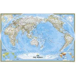 National Geographic RE01020324 World Classic - Pacific Centered Map