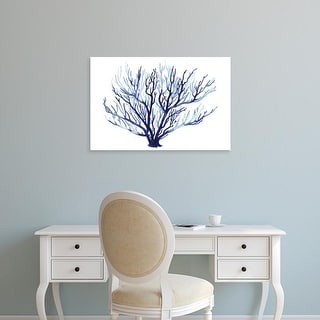Easy Art Prints Grace Popp's 'Azure Fan I' Premium Canvas Art