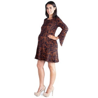 24seven Comfort Apparel Knee Length Maternity Sweater Dress