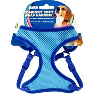 "Comfort Soft Wrap Adjustable Dog Harness Xxsmall-Blue, Girth Size 14""-16"""