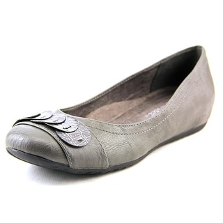Easy Street Charlotte Women N/S Round Toe Synthetic Gray Flats