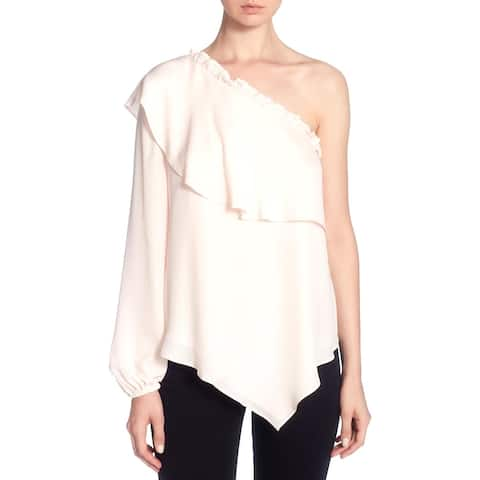 Catherine Malandrino Womens Thelda Blouse Silk Night Out