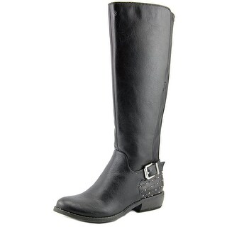 Fergalicious Mara Women Round Toe Leather Black Knee High Boot
