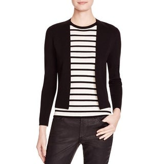 Theory Womens Cardigan Sweater Textured Open Front
