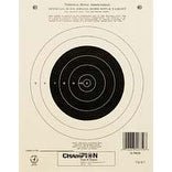 Champion Shooting Targets 50 yd. Small Bore Rifle - Single Bull (12 pack)