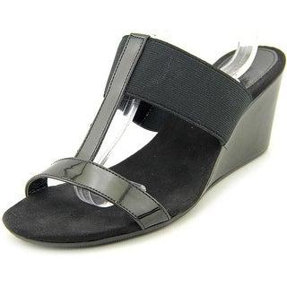 Style & Co Vern Women Open Toe Synthetic Black Wedge Sandal