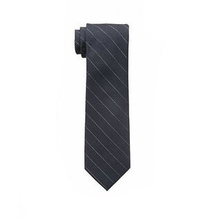 Calvin Klein NEW Gray Gold Mens One Size Glimmer Pinstriped Neck Tie