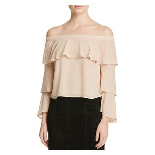 Bardot Womens Farrah Blouse Chiffon Off The Shoulder