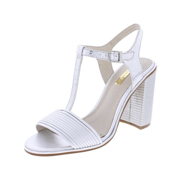 Louise Et Cie Womens Gabbin Dress Sandals Metallic T-Strap