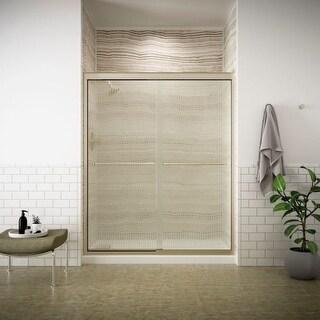 """Kohler K-702206-G54 Fluence Frameless Bypass Shower Door with Falling Lines Glass - 59-5/8"""" W x 70-5/16"""" H"""