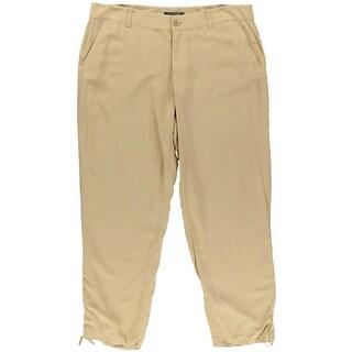 Lauren Ralph Lauren Womens Poplin Flat Front Skinny Pants - 14