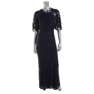 Cynthia Steffe Womens Evening Dress Lace Dolman Sleeves